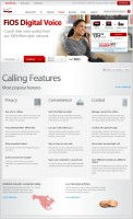 Content lay-out and copywriting for FiOS Digital Voice category page