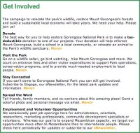 "Copy for ""Get Involved"" page"