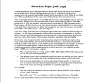 "Copy for ""Restoration Project"" page"
