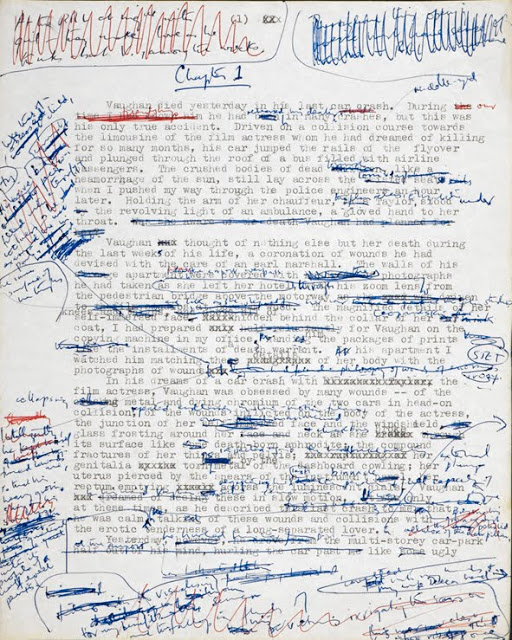 """Crash"" (J.G. Ballard) manuscript page"
