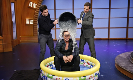 "Mickey Rourke accepts the challenge on ""Late Night."""